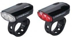 """BBB BLS-48 kerékpáros világítás """"SparkCombo"""" első és hátsó lámpa, fekete"""