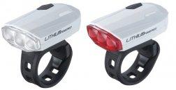 """BBB BLS-48 kerékpáros világítás """"SparkCombo"""" első és hátsó lámpa, fehér"""