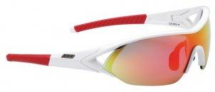 """BBB BSG-44 4473 kerékpáros szemüveg """"Impact"""" fehér keret/ MLC piros lencsékkel"""