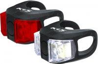 Kellys TWINS E+H készlet, 2 szuper fényes LED, 2 funkció, 2db CR2032 elemmel