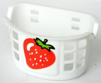 TW első, gyermekbiciklire, fehér műanyag eperrel, szalag rögzítéssel