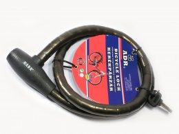 ADR görgős lakat 20x1200mm kulcsos, fekete, C/TY-221