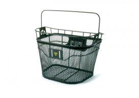 Topeak Wire Basket első, hegesztett fém, klikkes tartóval, 16L, max 5kg, lámpatartóval